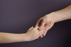 Father and child hands Stock Images