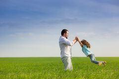 Father and child having fun Royalty Free Stock Photo