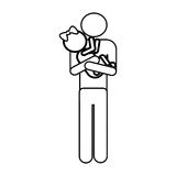 Father and child icon pictogram image. Vector illustration design Royalty Free Stock Photos