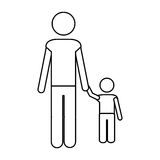 Father and child icon pictogram image. Vector illustration design Stock Photography