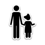 Father and child icon pictogram image. Vector illustration design Stock Photos