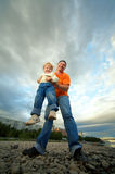 Father and child outdoor Stock Photo