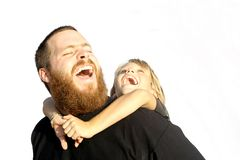 Father and child playing and laughing Stock Image