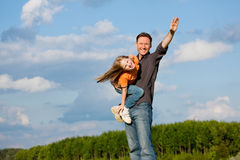 Father and child playing together Stock Photos