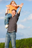 Father and child playing together Stock Images