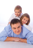 Father with children Stock Photography