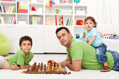 Father and children Royalty Free Stock Image