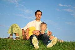 Father with children Royalty Free Stock Images