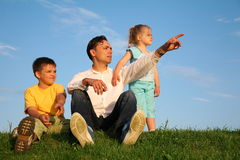 Father with children Stock Photos