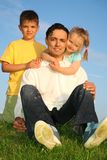 Father with children Royalty Free Stock Image