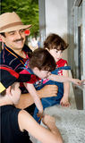 Father and children Stock Image