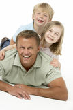 Father And Children Happy Together Royalty Free Stock Photos