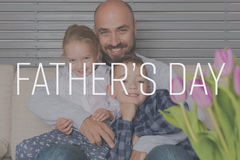 Father and children portrait, father`s day background. Father and children portrait, real family, father`s day background stock photography