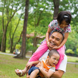 Father and children Stock Photo