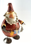 Father Christmas. Tin made fat puppet of Father Christmas Royalty Free Stock Photos