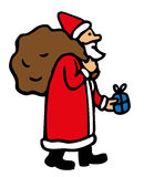 Father Christmas. With his bag full of presents Stock Photography