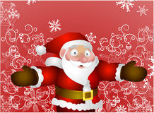 Father Christmas. A vector illustration of Santa with background Royalty Free Stock Photos