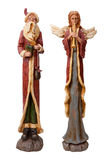 Father Christmas and Angel Isolated