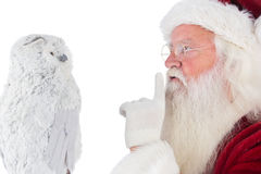 Father Christmas asks for quiet Royalty Free Stock Photography