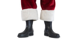Father Christmas boots and legs Royalty Free Stock Images