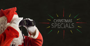Father Christmas Business Specials Promotion Royalty Free Stock Photos