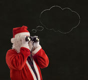 Father Christmas Business Strategy idea thought bubble Royalty Free Stock Photos