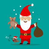 Father christmas cartoon Stock Photography