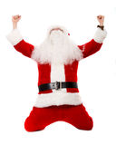 Father christmas celebrating Stock Photos