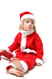 Father christmas child Royalty Free Stock Images