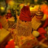 Father Christmas decoration stock photos