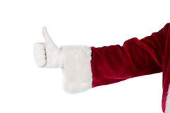 Father Christmas gives a thumb up Stock Photo