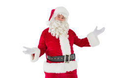 Father christmas with his hands out Royalty Free Stock Photography
