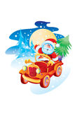 Father Christmas by the machin Royalty Free Stock Photo