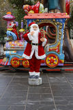 Father Christmas in Paris Royalty Free Stock Photography