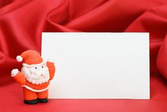 Father Christmas Place Card Royalty Free Stock Photo