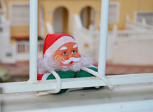 Father Christmas - House Break - Funny Robbery Stock Photos