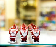 Father Christmas, or Santa Claus, icing sugar cake decorations Stock Photos