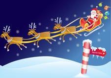 Father Christmas on Sleigh Stock Images