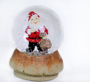 Father Christmas Snow Globe Royalty Free Stock Photo