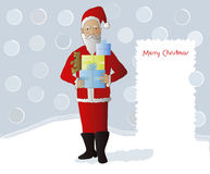 Father christmas in snow scene Stock Image