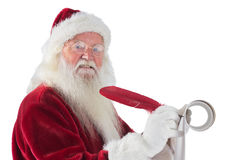 Father Christmas writes a list Royalty Free Stock Photography