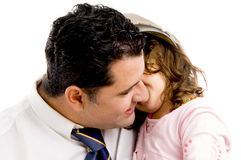 Father cuddling his daughter Royalty Free Stock Photography