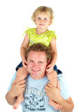 Father with cute baby girl. Father with cute blonde baby girl Royalty Free Stock Photography