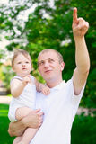 Father dad parent holding baby boy Stock Photos