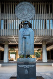 Father Damien Statue in Honolulu Stock Photos