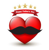 Father dar card with heart. Use for letter card and poster, printing Stock Photos