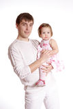 The father and the daughter Royalty Free Stock Photos