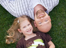 Father Daughter. Close Up of Father and Daughter Stock Photo