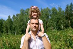 The father with the daughter Royalty Free Stock Photography
