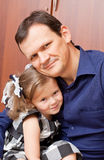 Father with a daughter Royalty Free Stock Photo